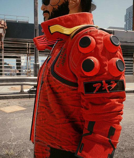 Cyberpunk 2077 Akira Kaneda Red Bomber Jacket
