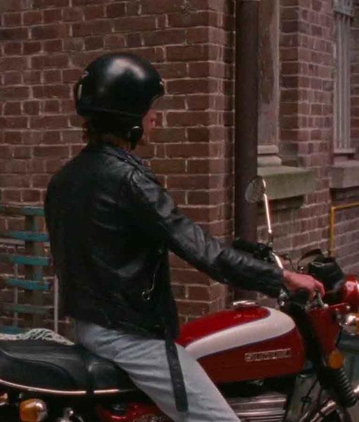 David Summer of 85 Black Leather Jacket