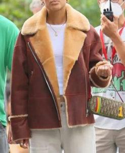 Julien Calloway Gossip Girl Shearling Jacket