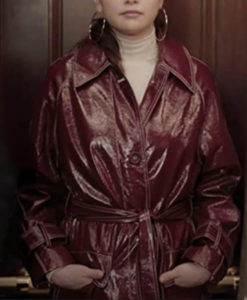 Mabel Only Murders in the Building Leather Coat