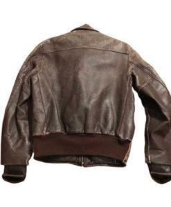 Men's 1950s Style Brown Bomber Jacket