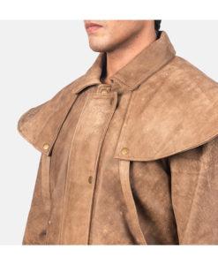Men's Jason Brown Leather Duster