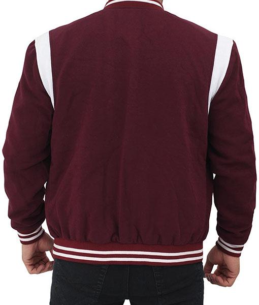 Men's Maroon Varsity Jacket