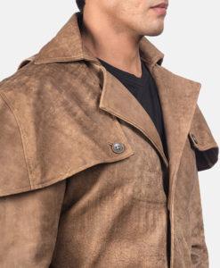 Men's Robert Brown Leather Duster