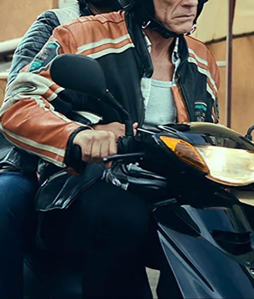 Van Damme The Last Mercenary Biker Jacket