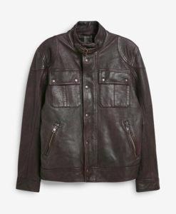 Albert Brown Leather Jacket