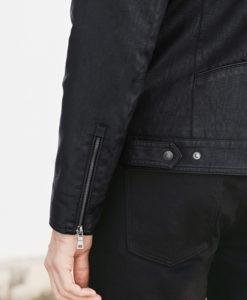 Brandon Black Faux Leather Jacket