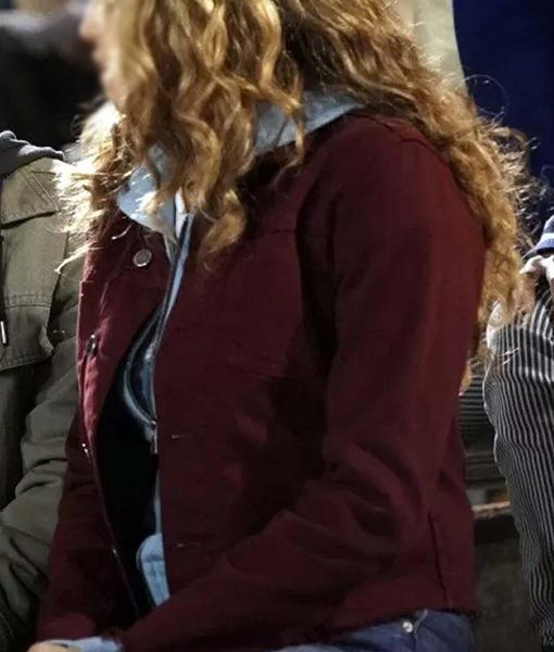 Courtney Whitmore Stargirl Maroon Jacket