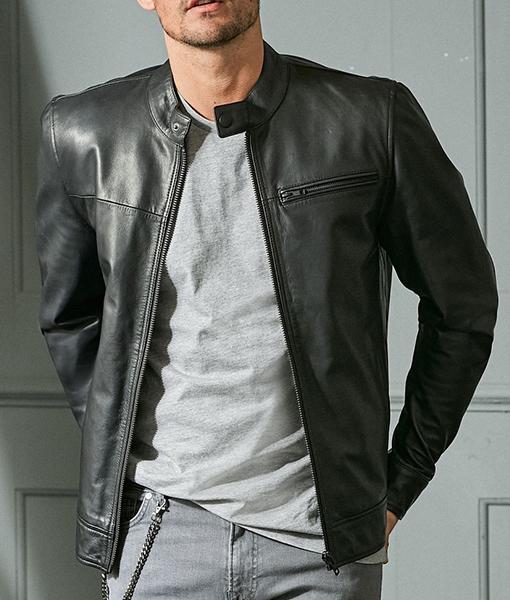 Fredrick Black Leather Jacket