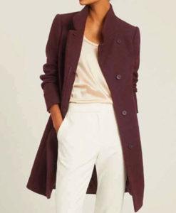 Hope Mikaelson Legacies S03 Maroon Wool Coat
