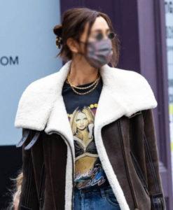 Irina Shayk Brown Jacket