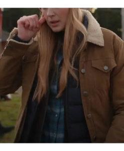 Melinda Monroe Virgin River S03 Brown Cotton Jacket