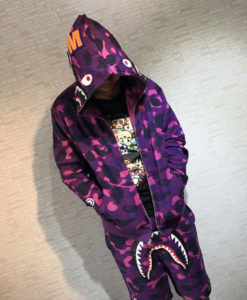 Purple Bape Hoodie