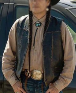 Rainwater's Driver Yellowstone SO4 Leather Vest