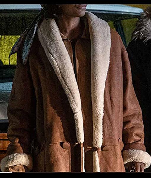 Raquel Thomas Power Book III Leather Coat