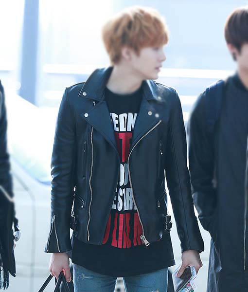 Suga BTS Leather Jacket