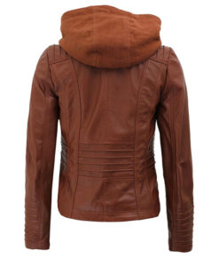Women's Brown Cafe Racer Leather Jacket
