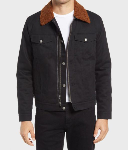 Mens Black Cotton Jacket