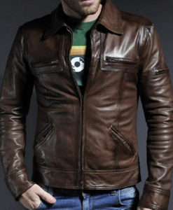 Men's Vintage Brown Leather Jacket