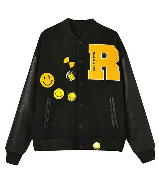 ASAP Rocky Testing Awge Flacko Varsity Jacket