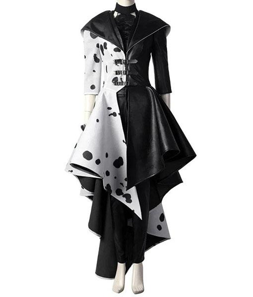 Cruella De Vil Cosplay Coat - Front