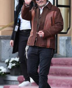 Johnny Depp San Sebastián Film Festival Brown Jacket