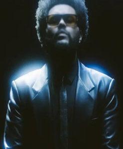 The Weeknd Take My Breath Leather Coat