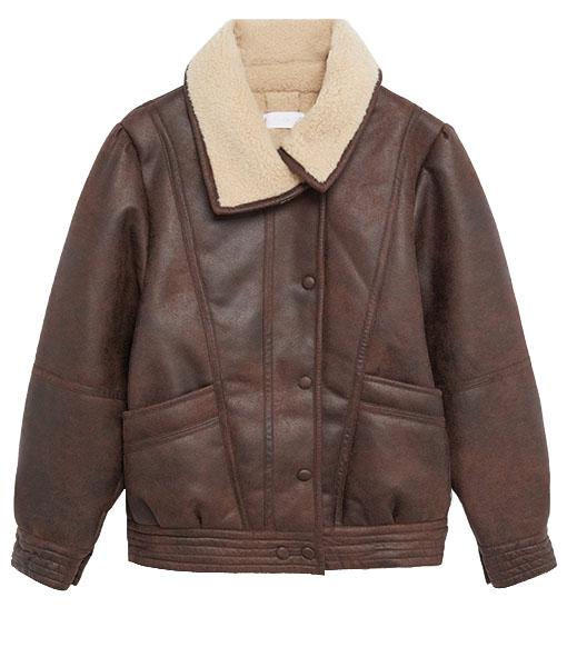Women's Faux Shearling Aviator Jacket